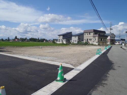 新庄市五日町桂堰分譲地 A-1区画(建築条件付)8月上旬分譲開始予定